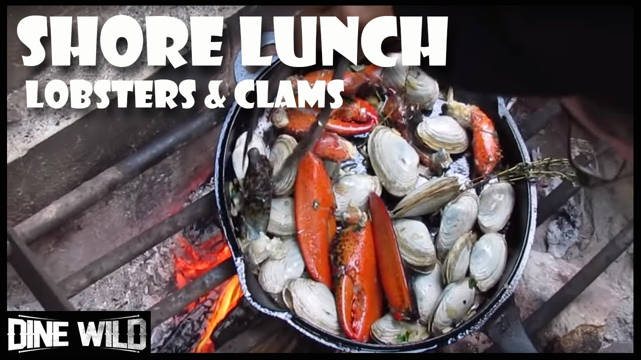 Lobster and clams shore lunch