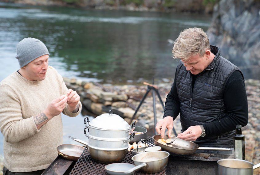 Christmas in July: Christopher Haatuft teaches Gordon Ramsay about reindeer and Neo-Fjordic cuisine