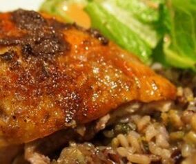 Ruffed Grouse with Wild Rice