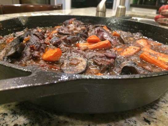 Moose Ribeye Steak - with Wild Mushrooms and Sundried Tomatoes