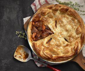 Venison and stout pot pie